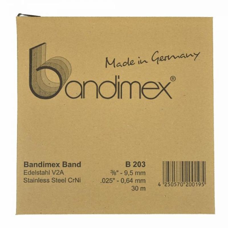 B203 9,5mm Bandimex Band vollrunde Kanten 30m/Rolle