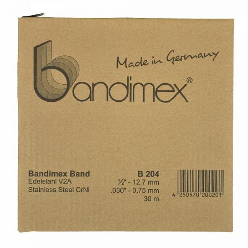 B204 12,7mm Bandimex Band vollrunde Kanten 30m/Rolle