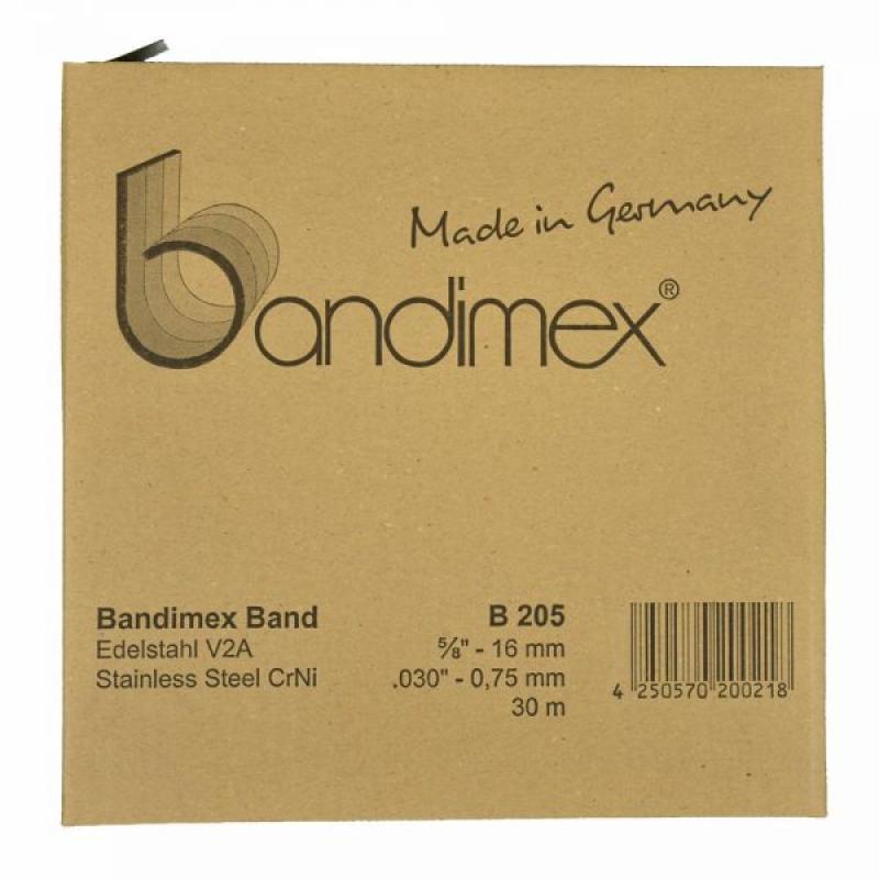 B205 16,0mm Bandimex Band vollrunde Kanten 30m/Rolle