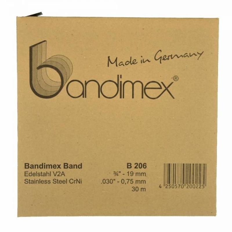 B206 19,0mm Bandimex Band vollrunde Kanten 30m/Rolle